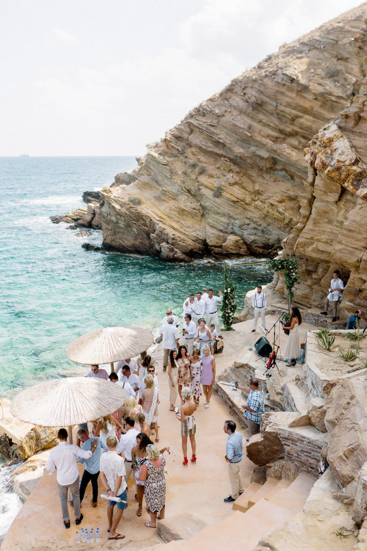 Wedding ceremony by the sea in Greece