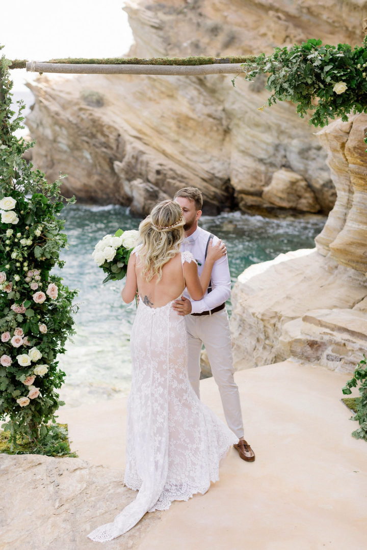 wedding near the sea in greece