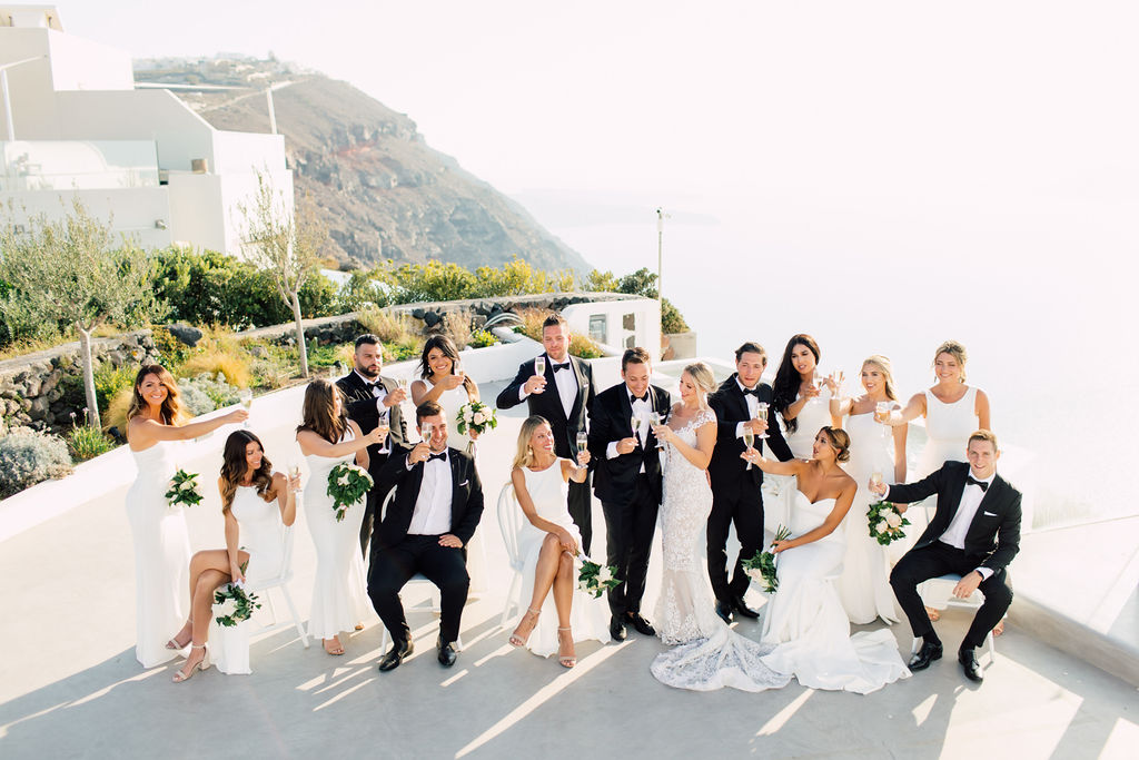 Summer wedding in Rocabella, Santorini Greece