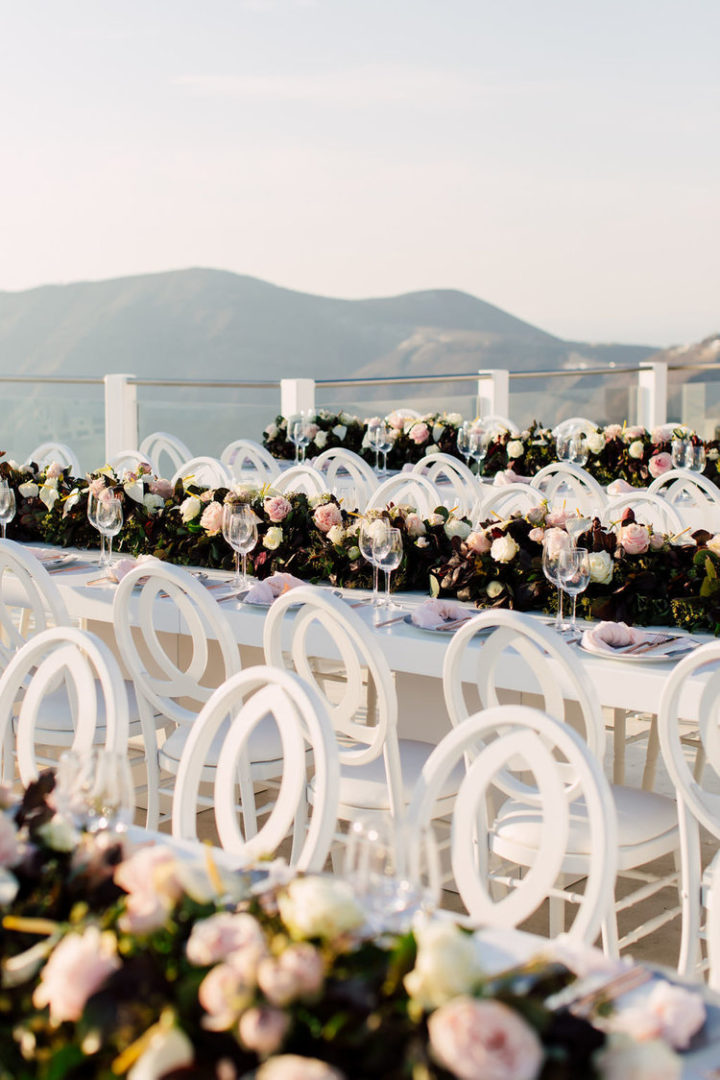 Wedding flowers Santorini Greece