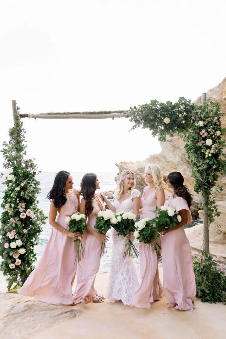 Bridesmaids bouquets for Ios Greece