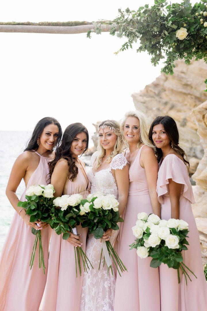 Wedding arch in Ios Greece