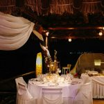 santorini wedding decoration at theros