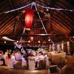 διακόσμηση γάμου στο Theros Wave bar