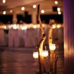 φωτιστικά γάμου με θαλασόξυλα