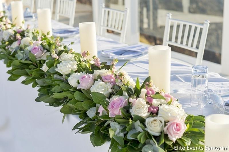 View Wedding Decor: A Wedding In Santorini