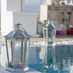 Santorini wedding venues pool