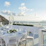 Sea view wedding venue at Santorini