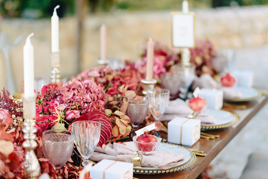 wedding with pomegranate