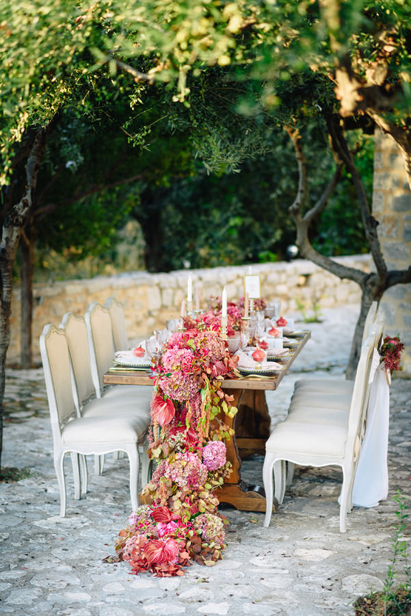 long wedding table decoration