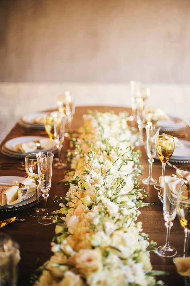 long white centerpiece