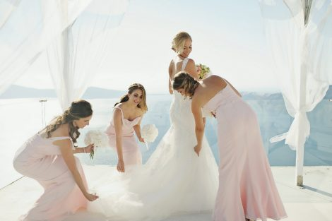 Διακόσμηση γάμου  Σαντορίνη