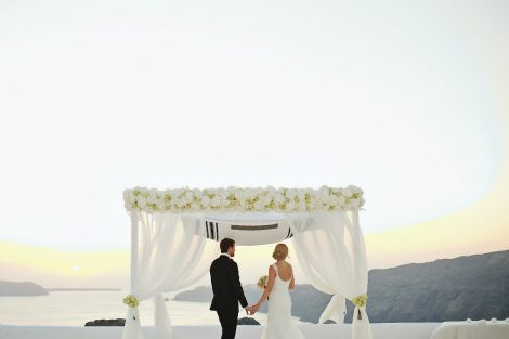 Jewish wedding ceremony Athens Santorini
