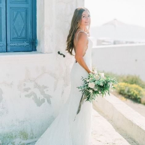 Santorini elegant wedding