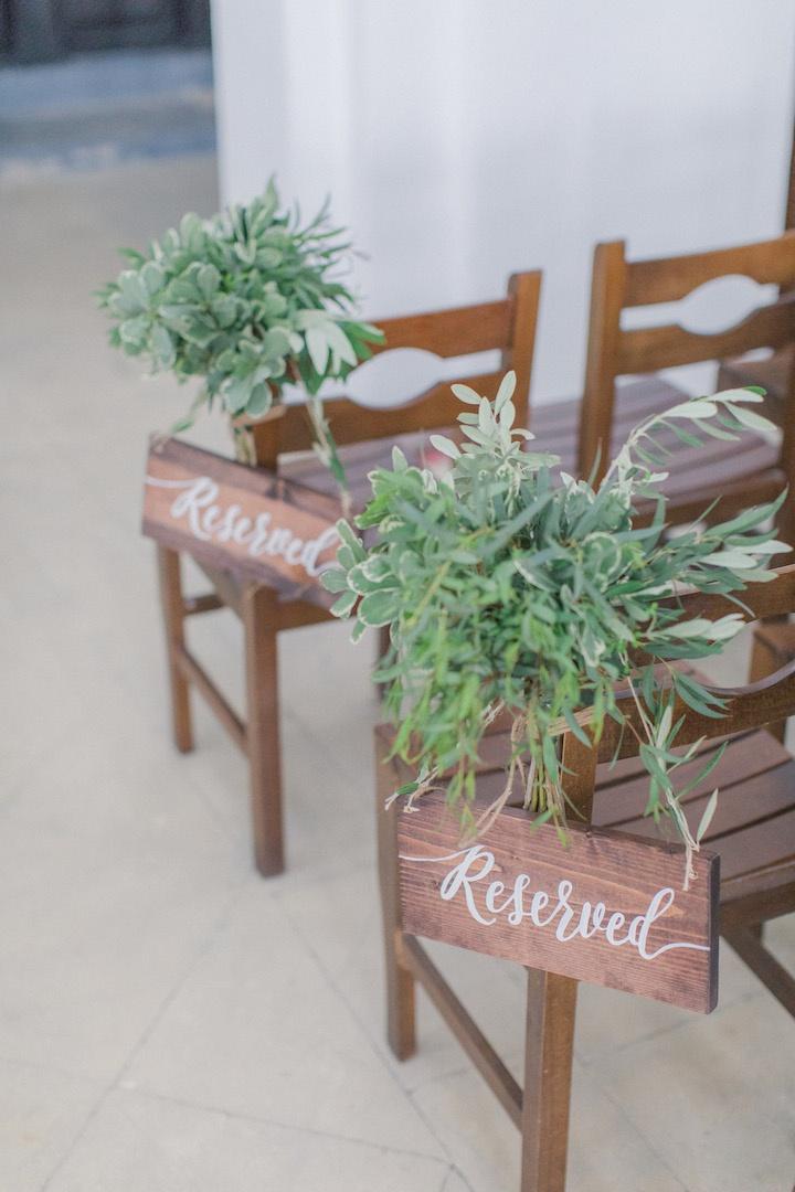 Ceremony flower decoration in Santorini