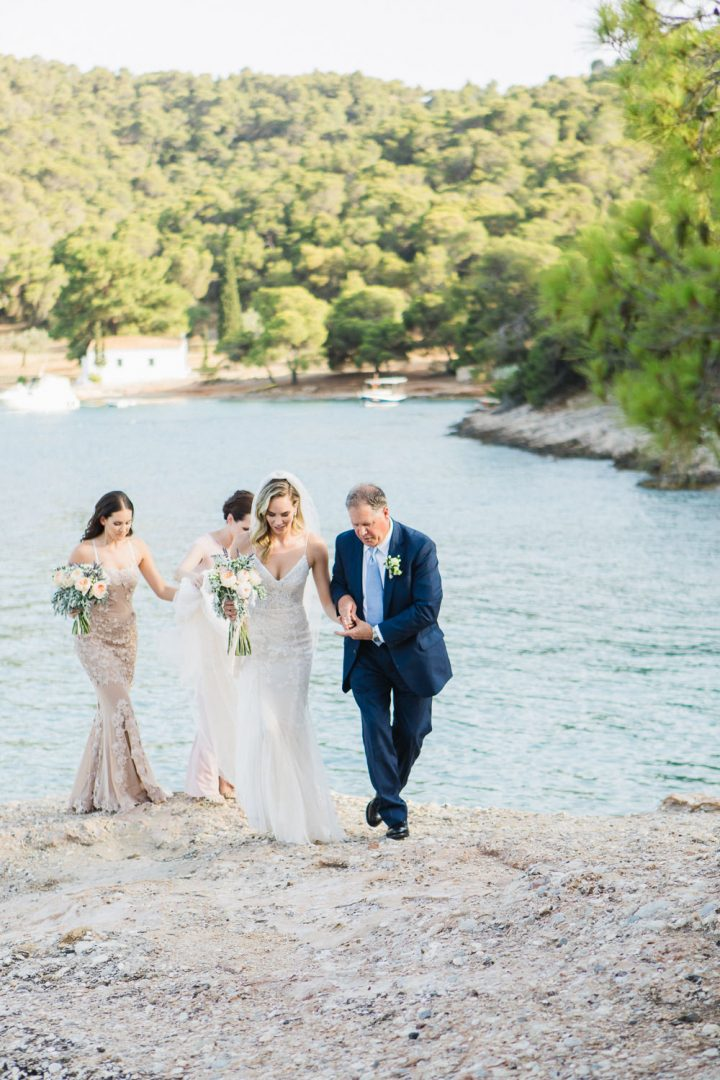 Ceremony flower decoration in Spetses Greece