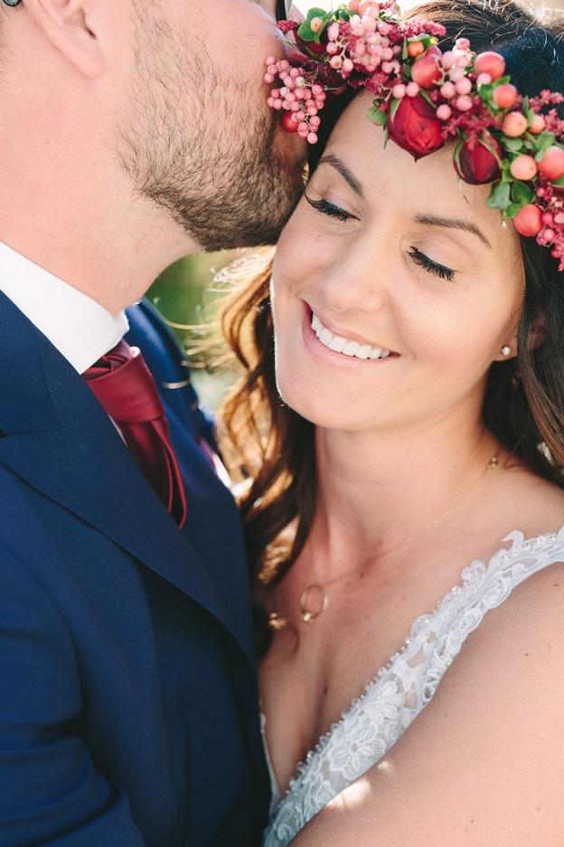 Bridal flower wreath by Redboxdays.gr