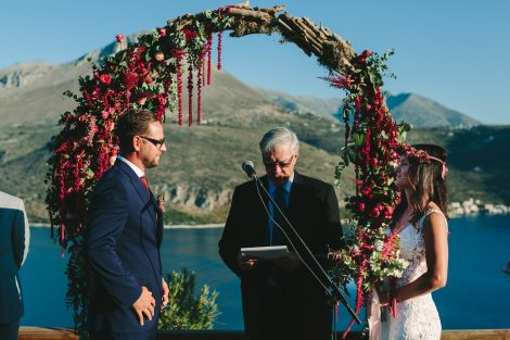 burgundy  wedding arch