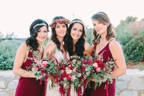 burgundy  bridal bouquets