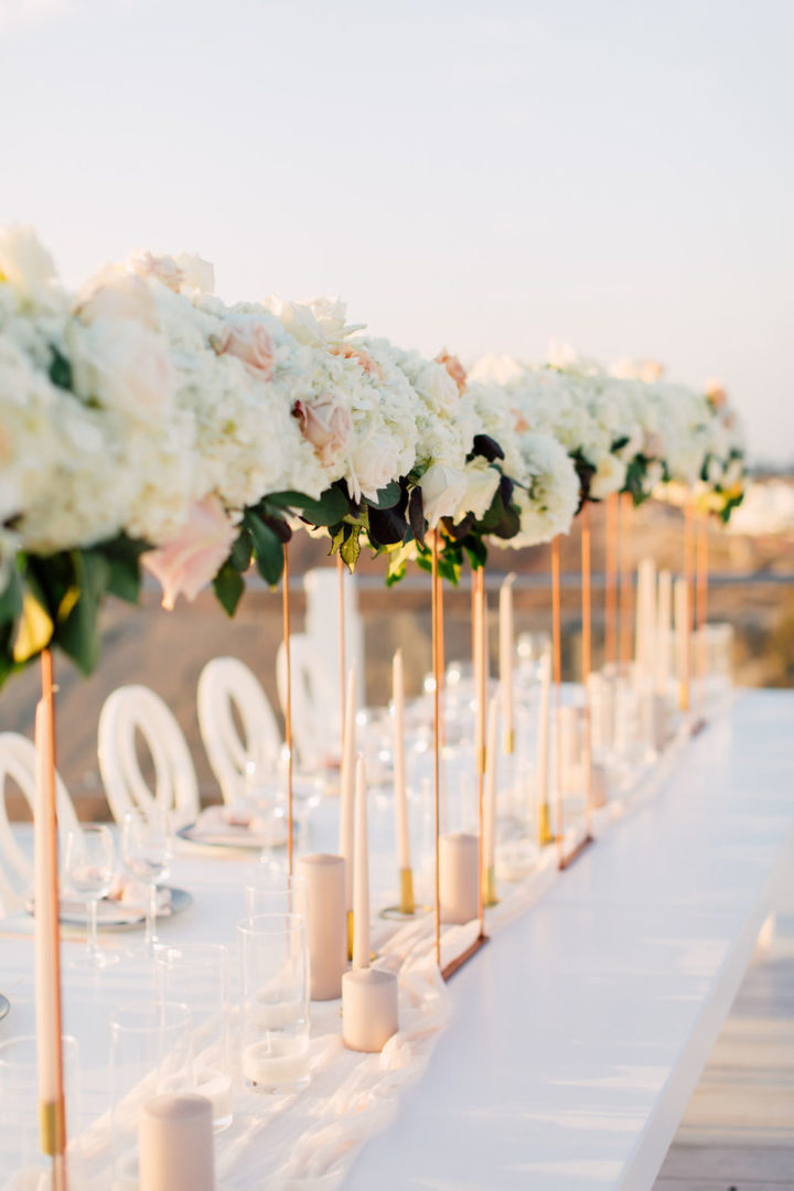 Wedding floral decoration at Rocabella Santorini Greece