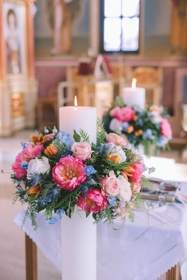 Wedding floral decoration at Athens Riviera
