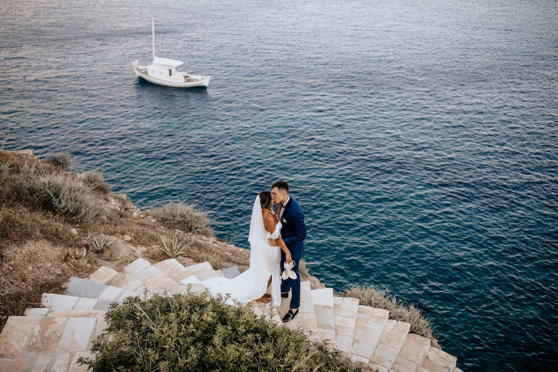 Destination wedding in Ios island