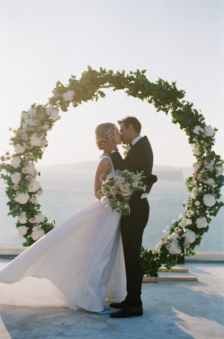 Wedding ceremony arch at Cavo Ventus