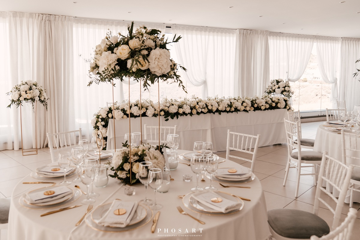 Le ciel wedding flower decoration