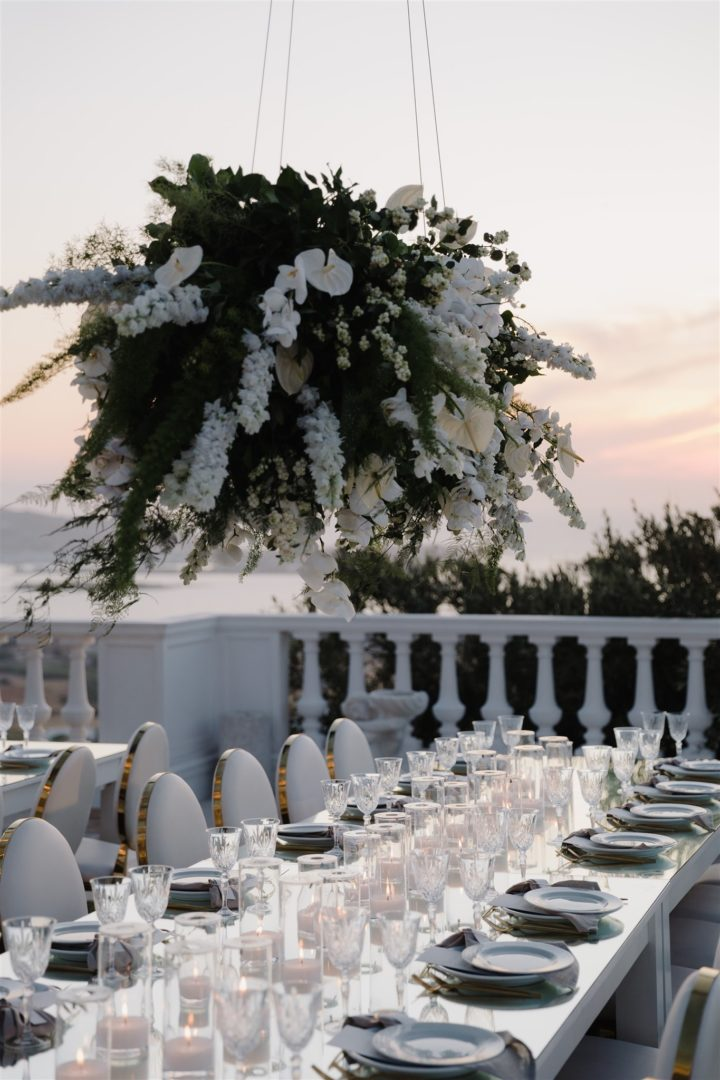 Wedding floral decoration in Paros Greece