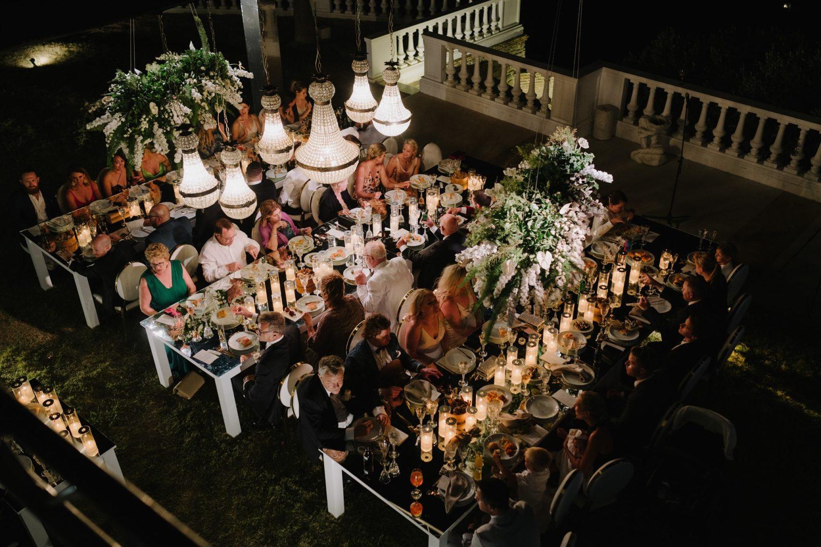 Wedding floral decoration at Villa Aethra, Paros