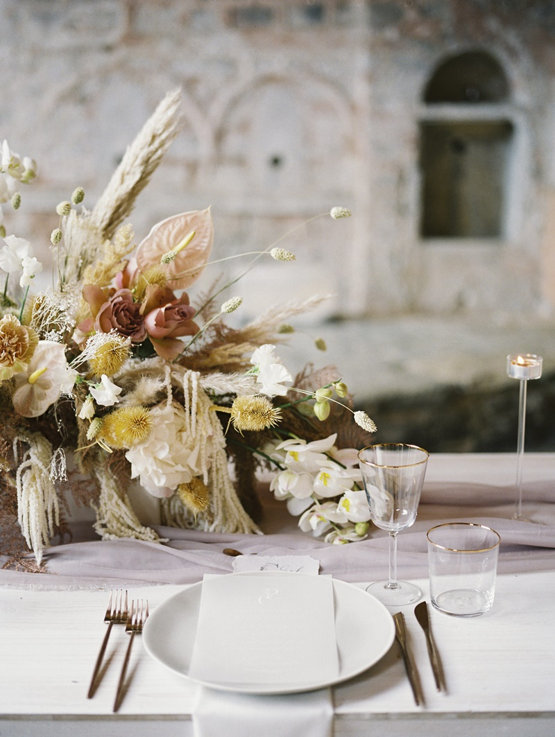 Pampas wedding decoration in Greece