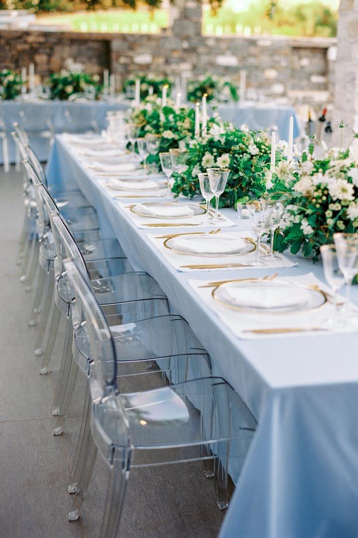 Centerpiece for Paros wedding