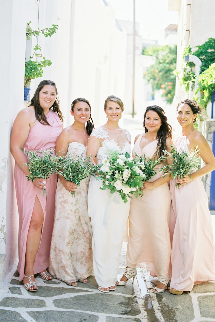 Bridesmaids bouquets for Paros Greece