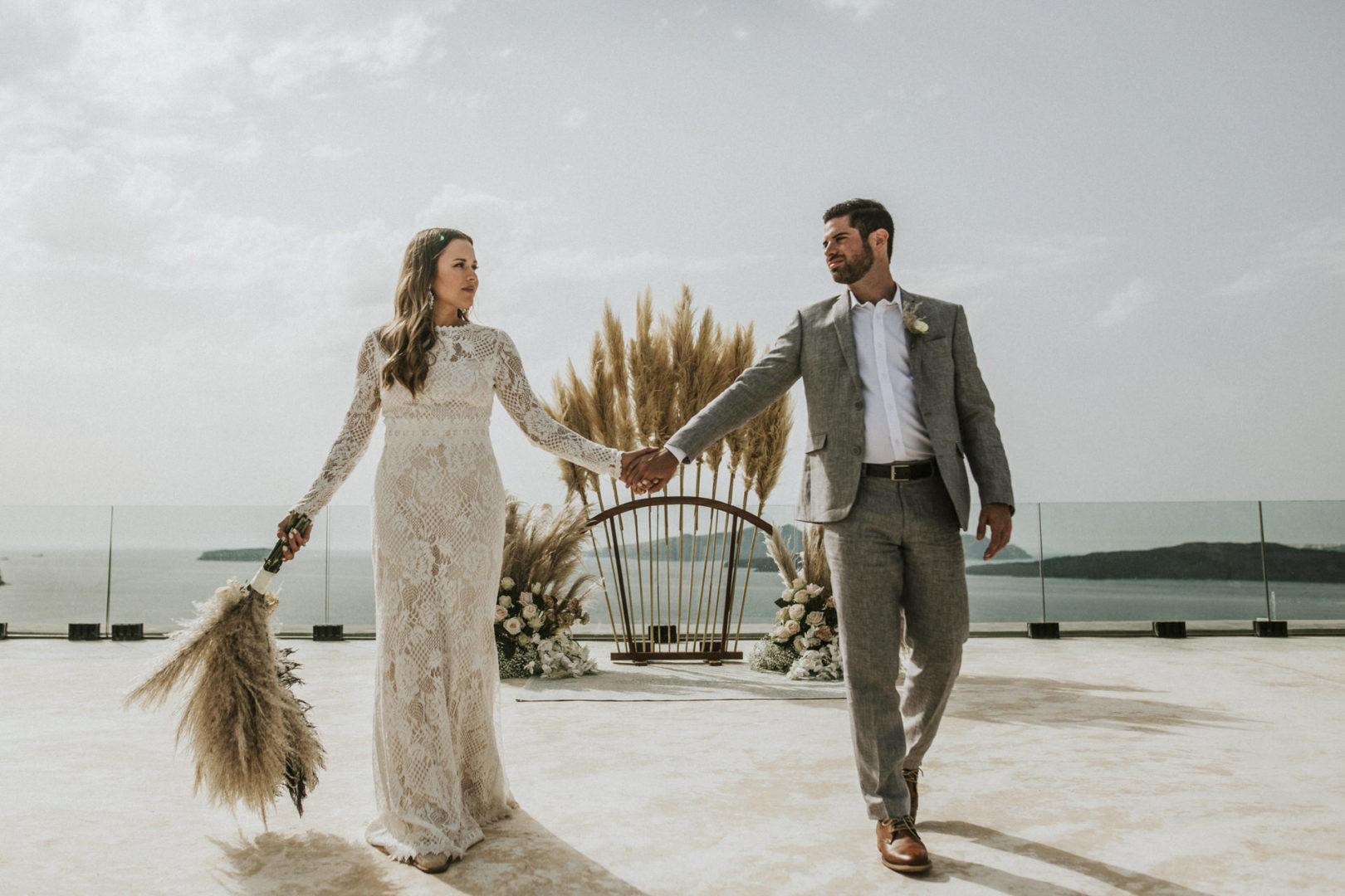Elopement in Santorini Greece