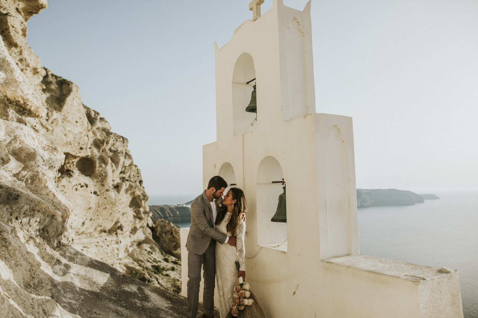 Summer wedding in Santorini Greece
