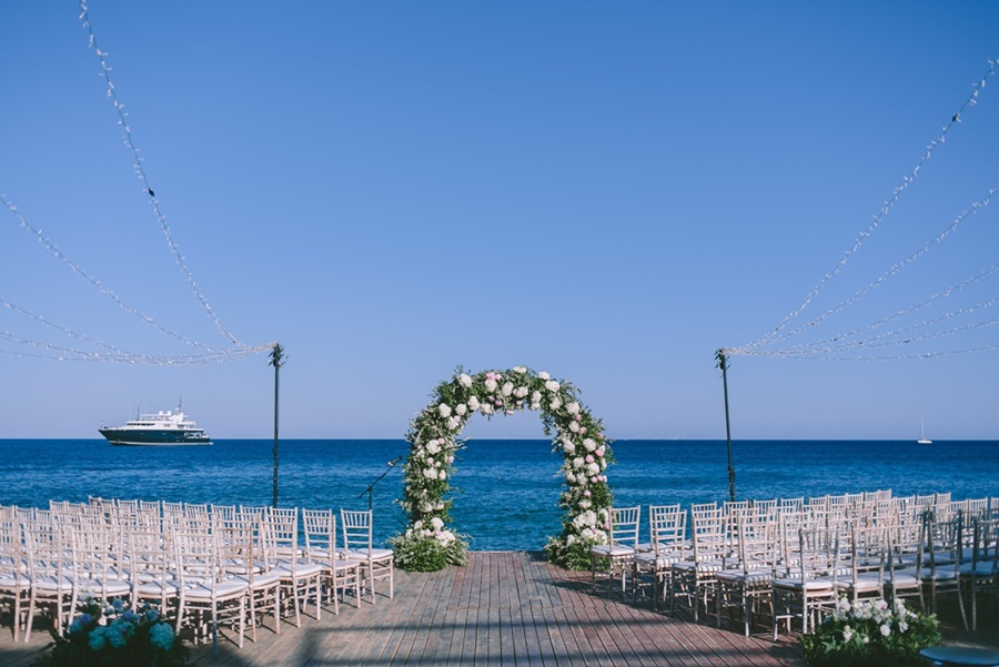Ceremony arch by Redboxdays Greece