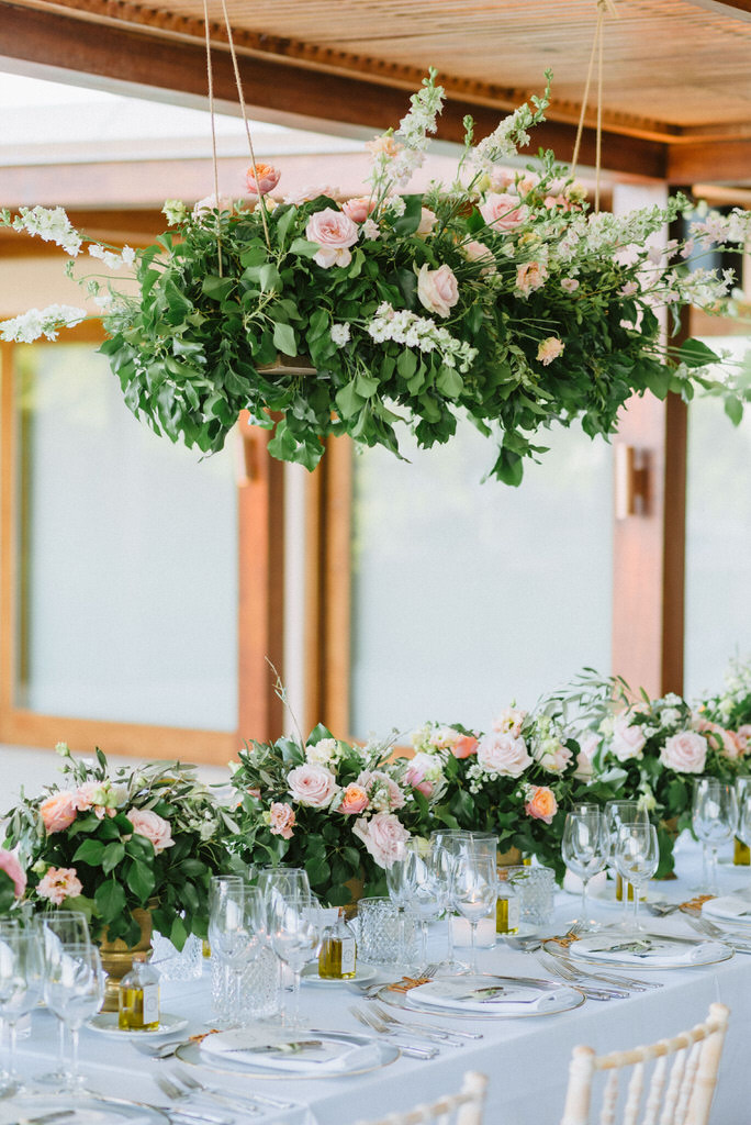 Wedding floral decoration at Island Art and Taste, Athens Riviera