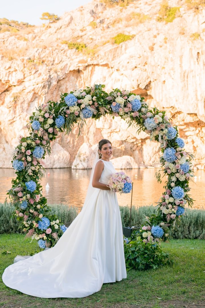Ceremony arch in Athens Greece