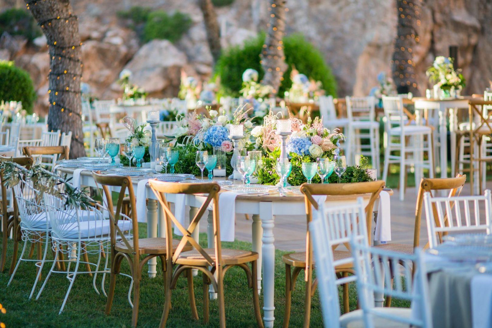 Lakeside wedding decoration