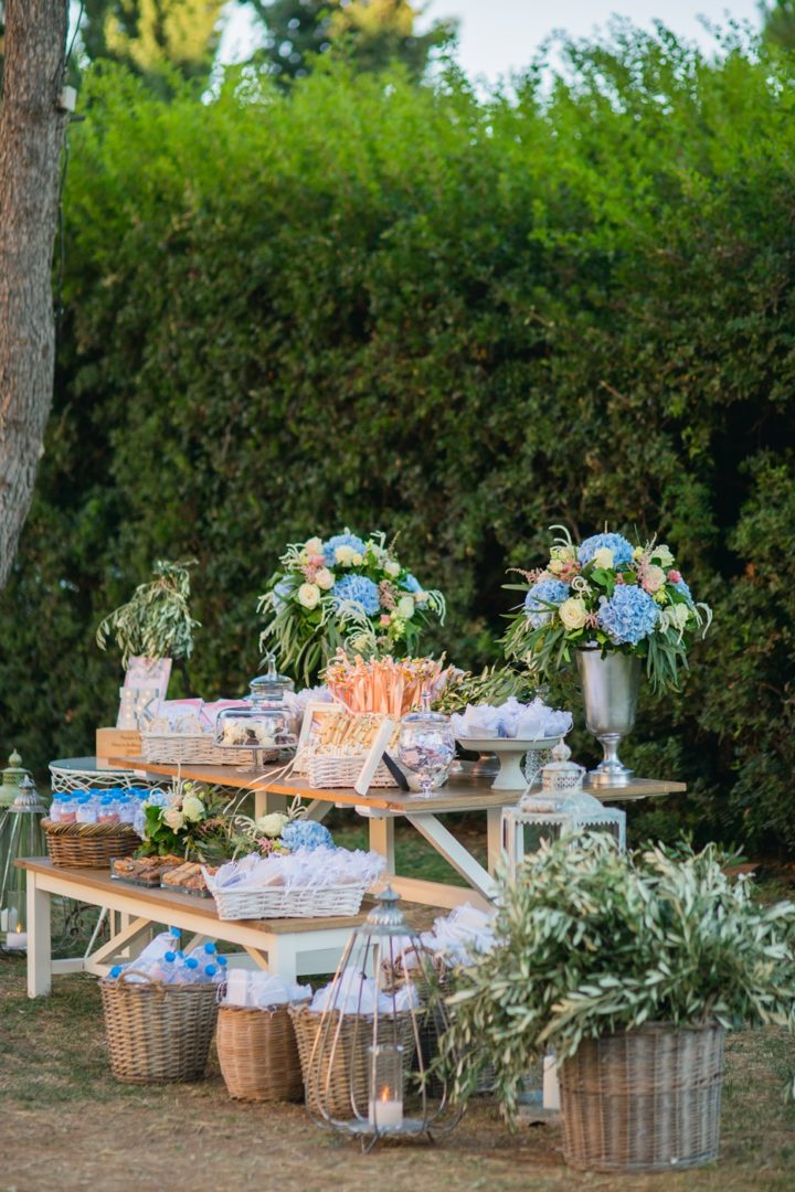 Romantic wedding decoration at Athens Riviera