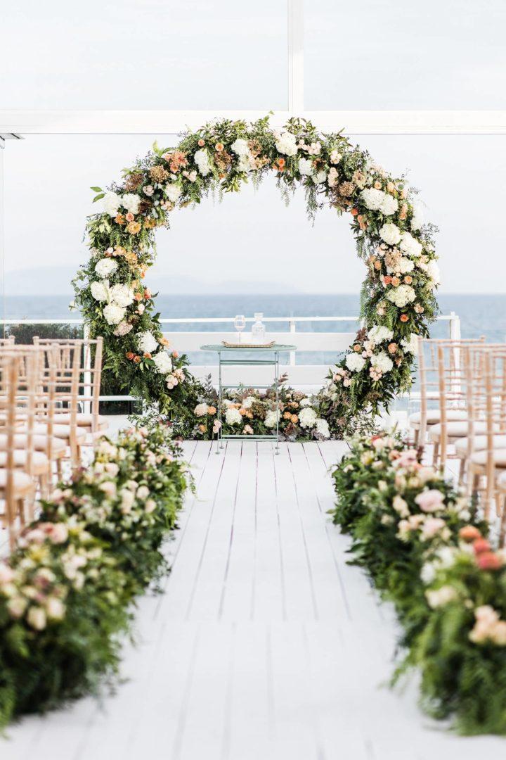 Ceremony arch by Redboxdays.gr Greece