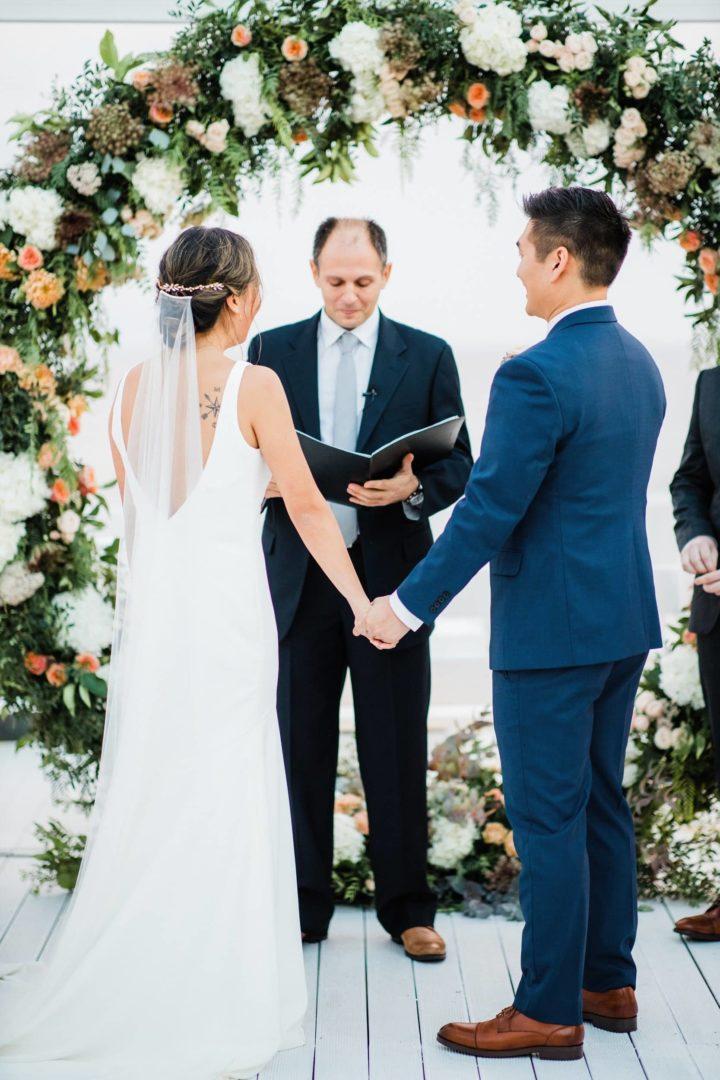 Wedding floral decoration in Greece