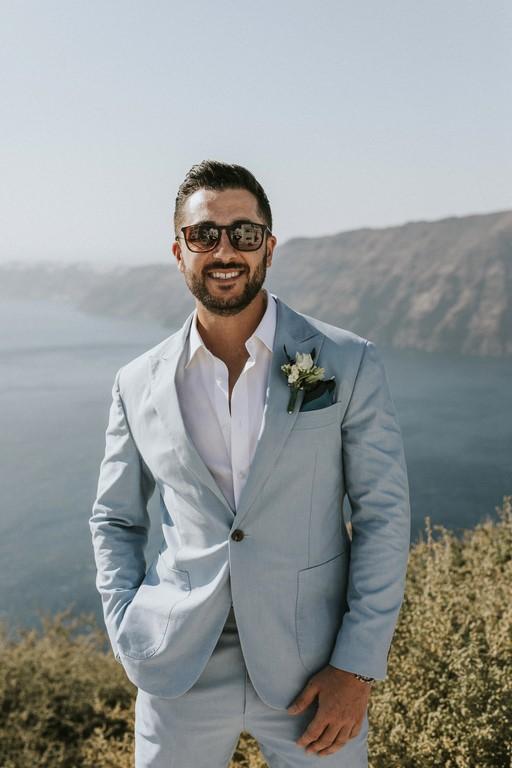 Groom's boutonniere st Rocabella Santorini